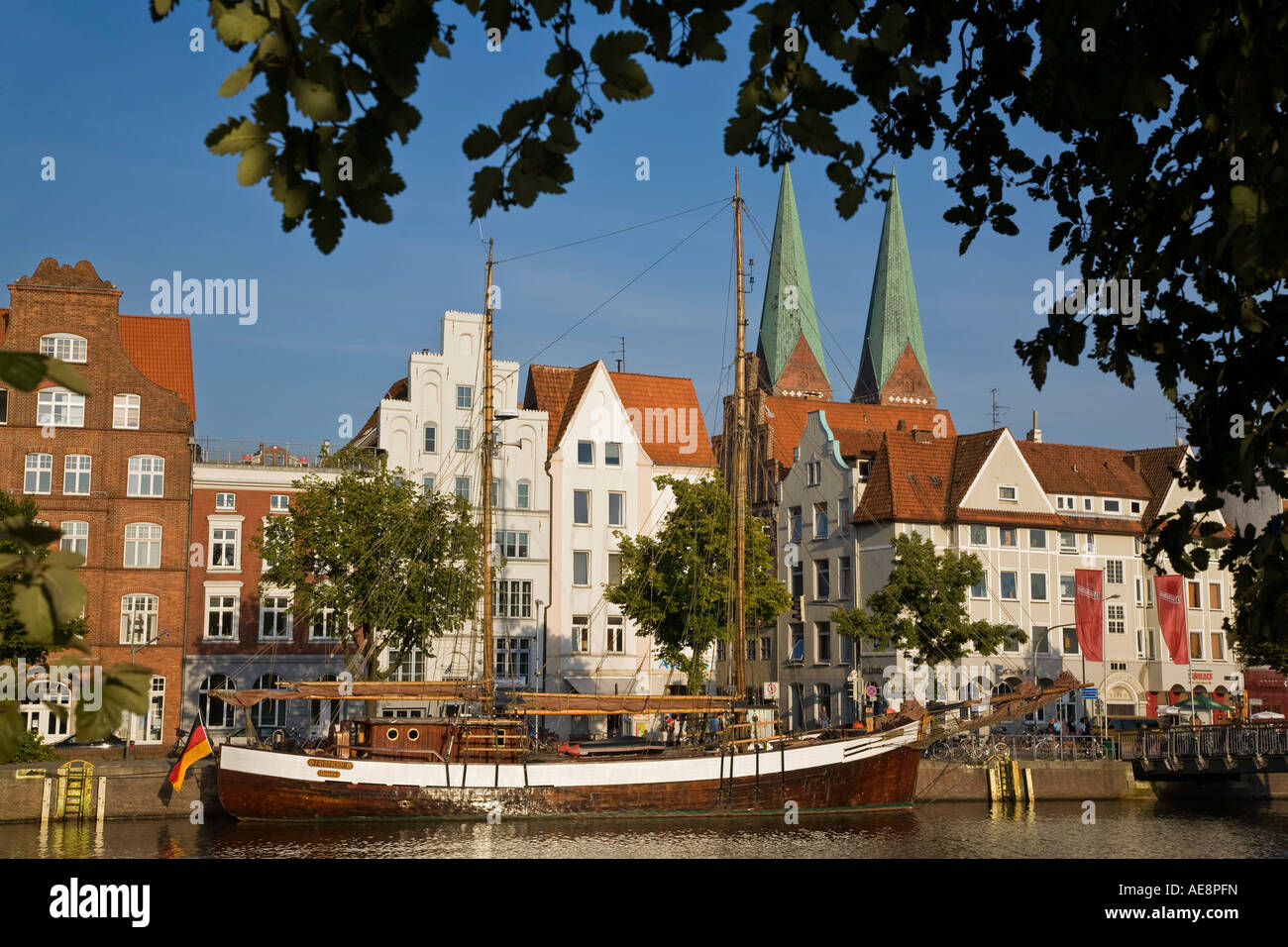 Trave river harbor lubeck schleswig holstein germany stock for Mobel lubeck