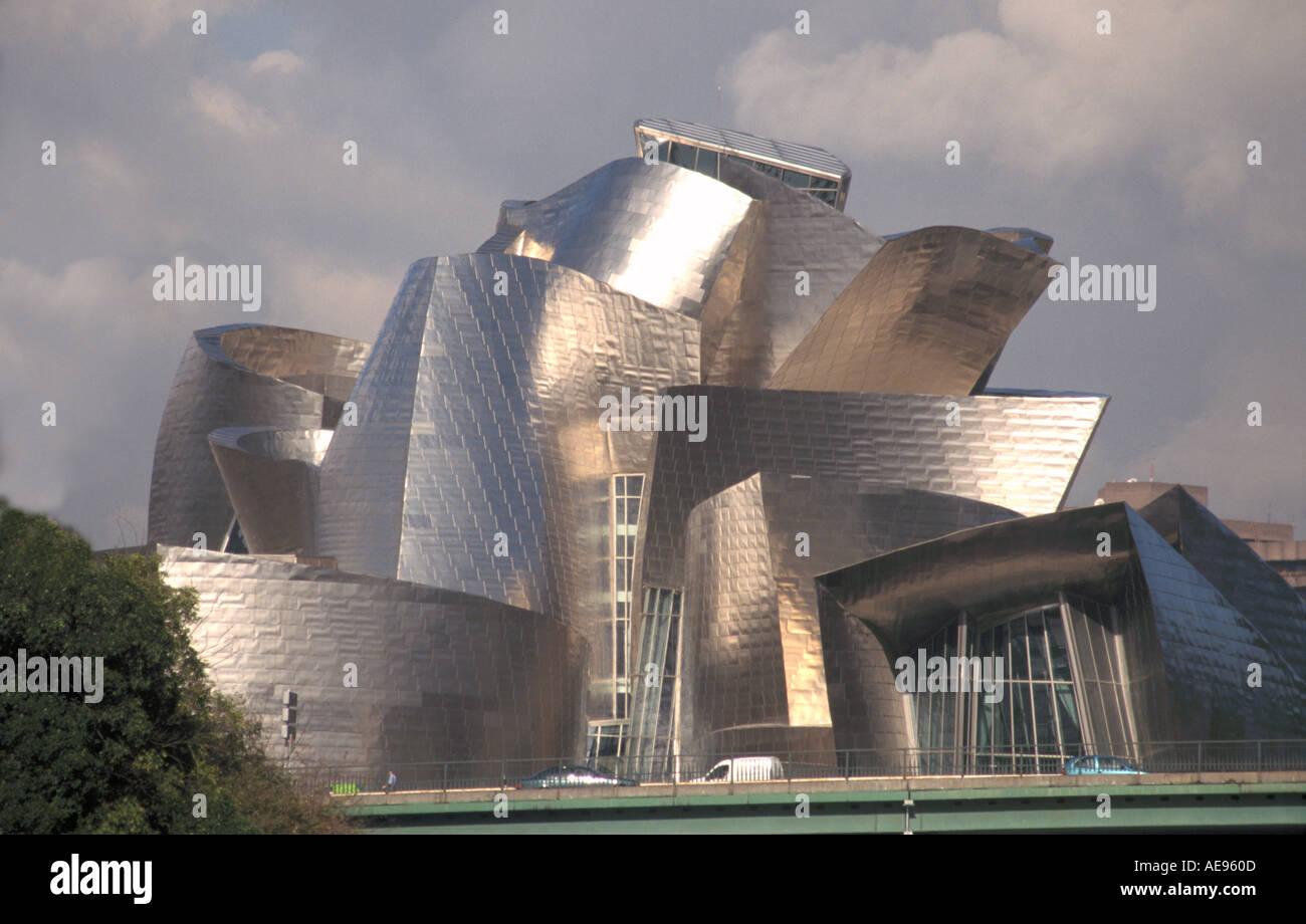 guggenheim museum of modern art designed in titanium by