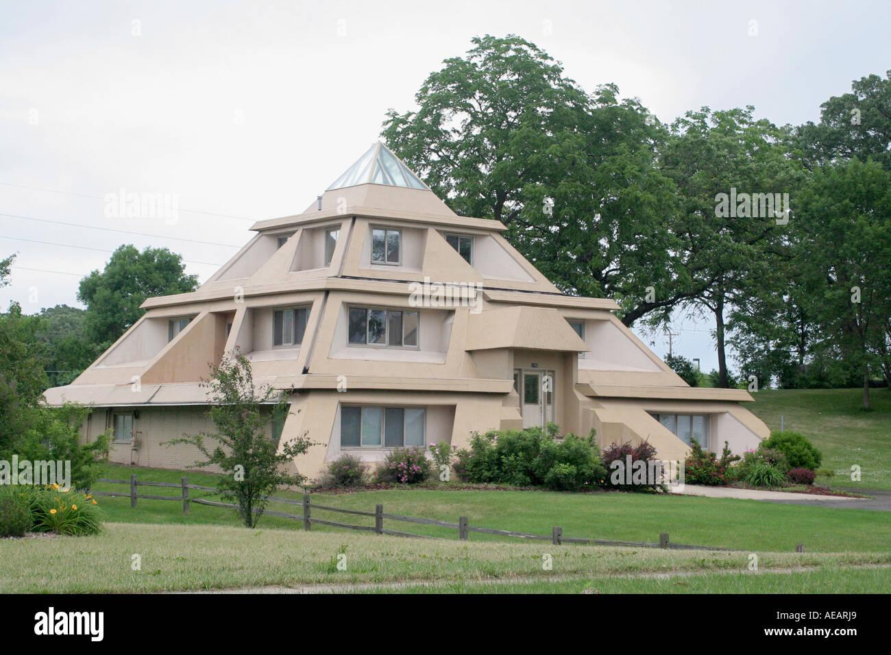 Pyramid House Clear Lake Iowa Stock Photo Royalty Free