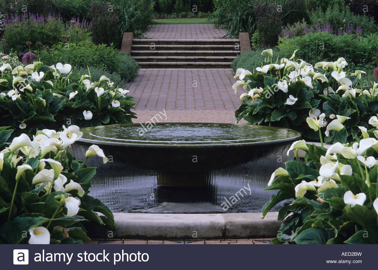 RHS Wisley Surrey Design Penelope Hobhouse Contemporary Water Feature  Fountain As Focal Point