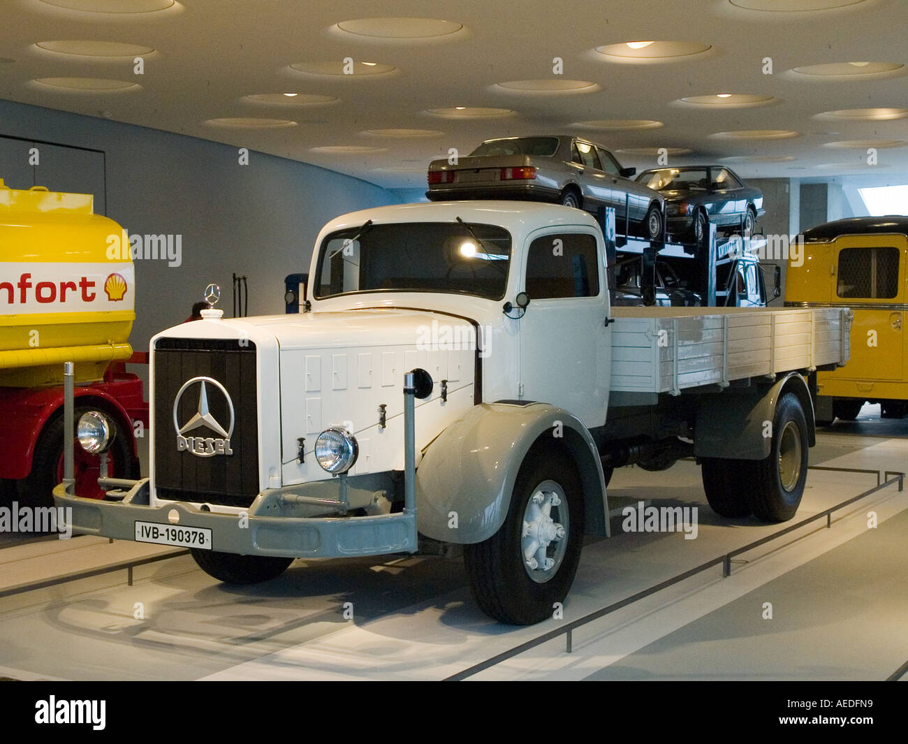 museum mercedes benz stuttgart lorry stock photo royalty free image 7799960 alamy. Black Bedroom Furniture Sets. Home Design Ideas