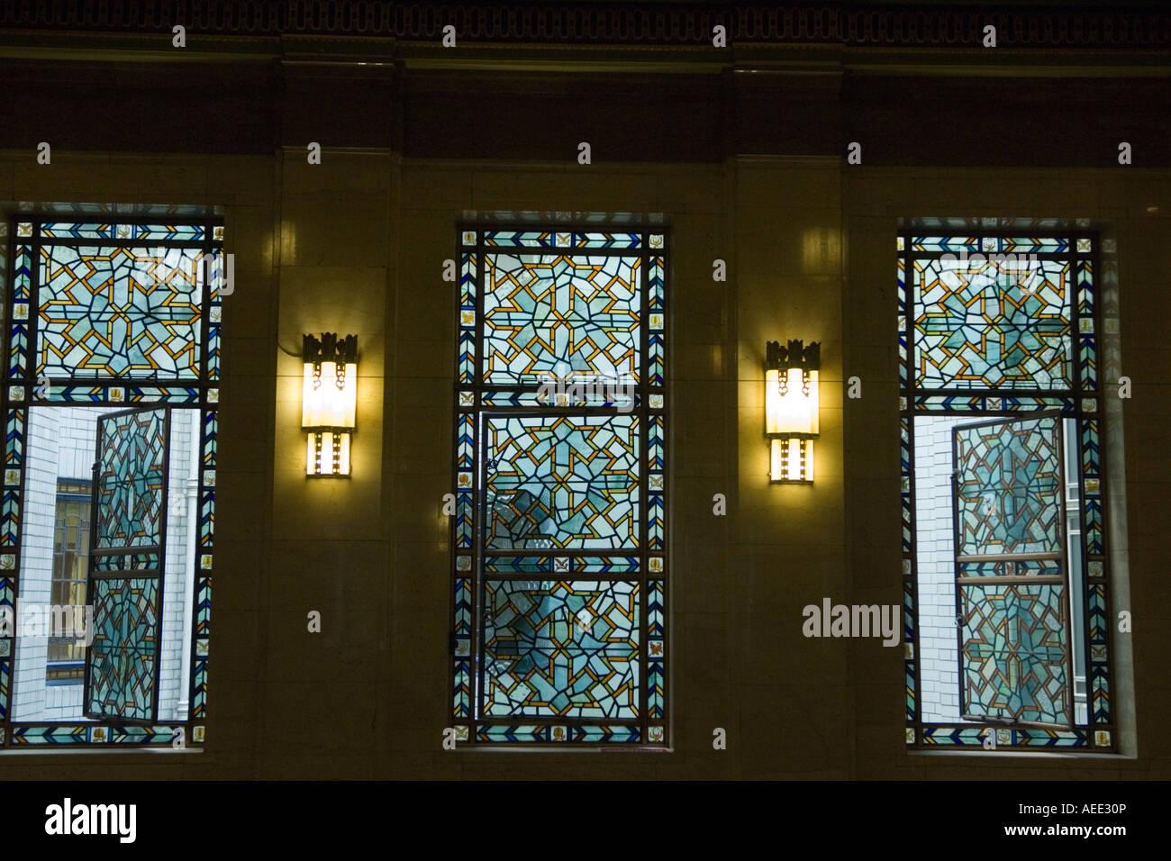 art deco interior, freemasons' hall, london stock photo, royalty