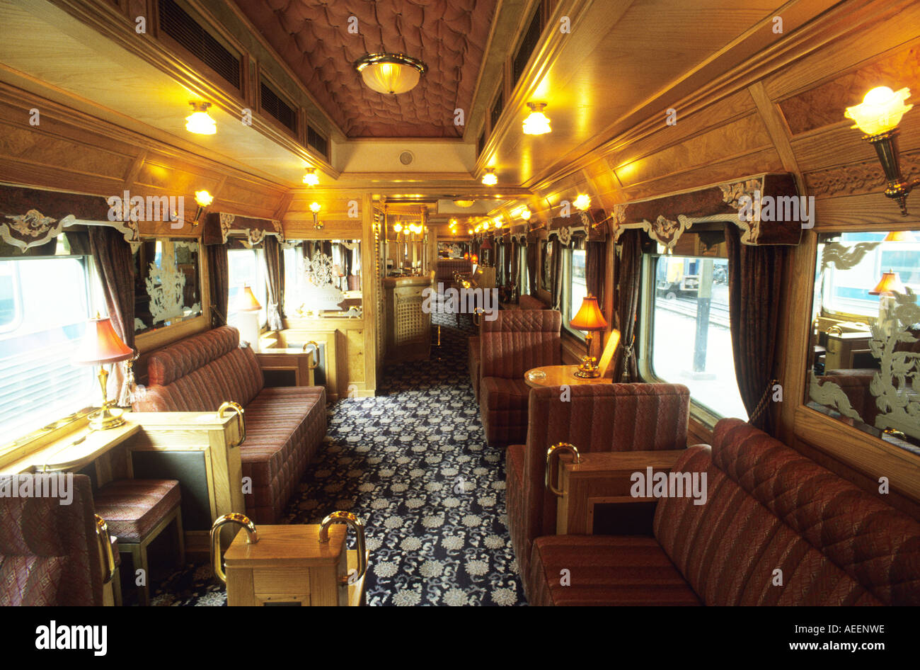 saloon of the eastern and oriental express train which travels from stock photo royalty free. Black Bedroom Furniture Sets. Home Design Ideas