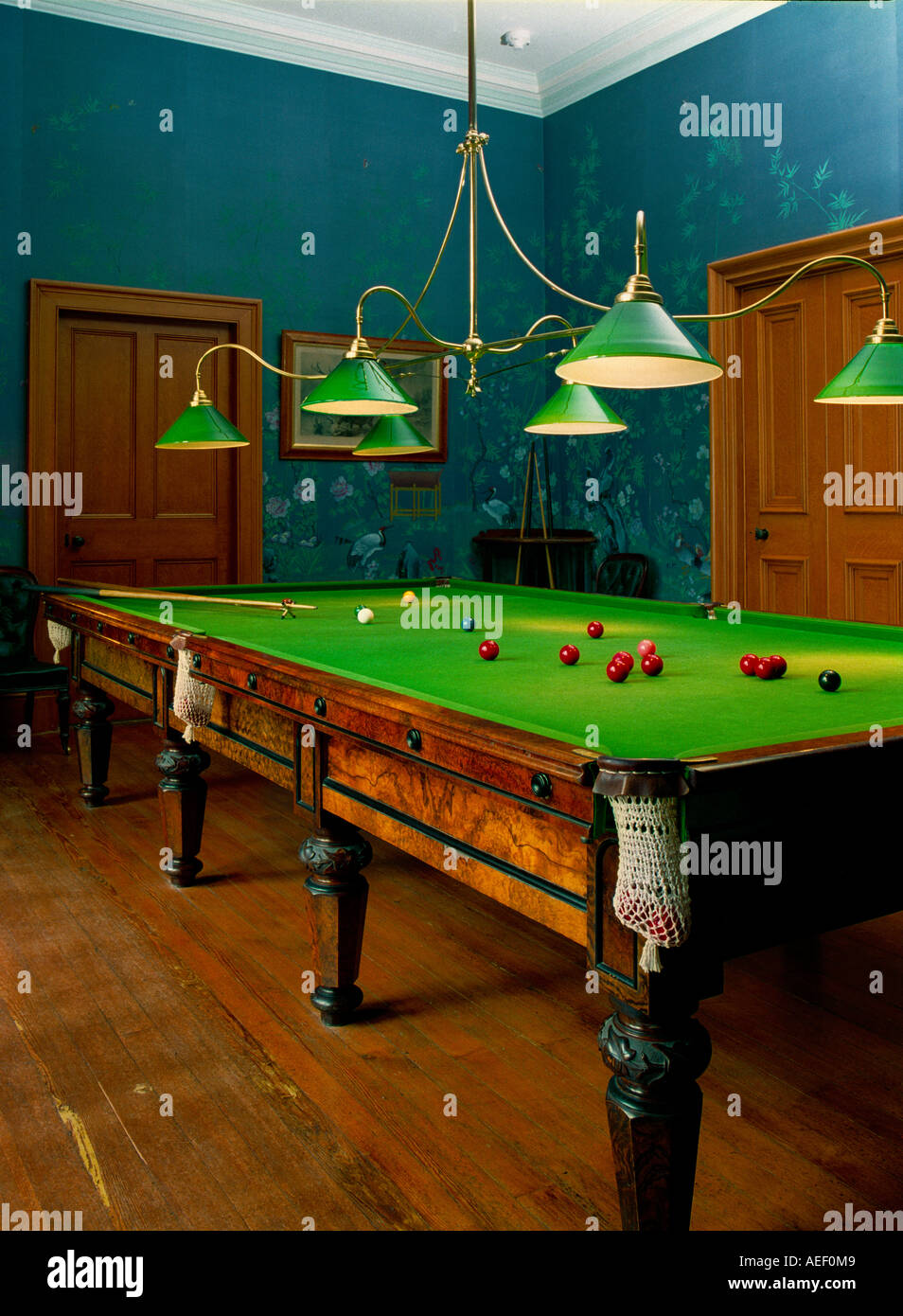 The Billiards Room In The Victorian Stately Home Of Muckross House Stock Photo Royalty Free