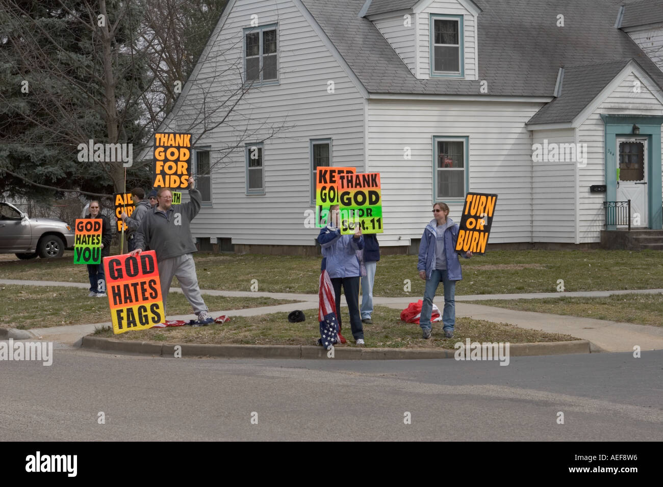 picketers from fred phelps westboro baptist church based