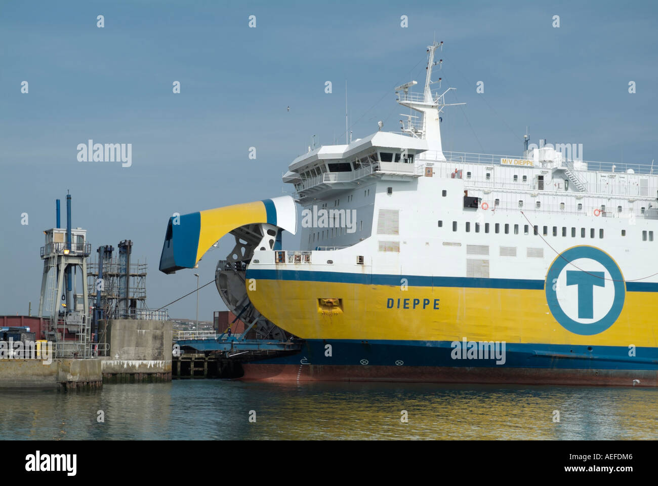 transmanche ferries newhaven dieppe ferry docked at newhaven east stock photo royalty free. Black Bedroom Furniture Sets. Home Design Ideas
