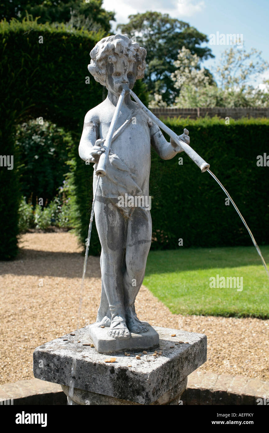 Lovely Stone Garden Statue Of Pan Playing His Pipes