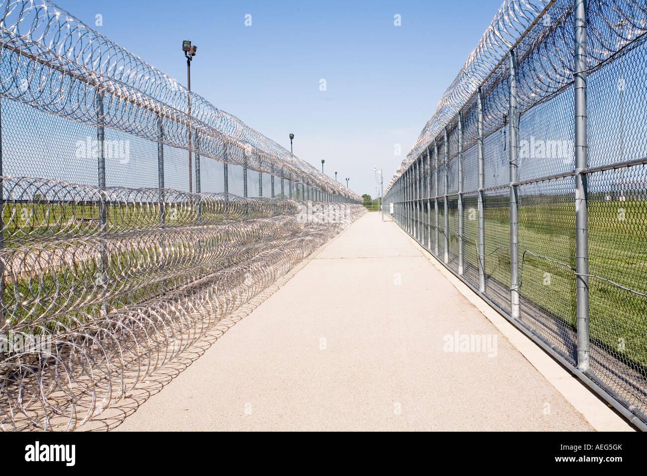 Perimeter fence at the maximum security tecumseh state
