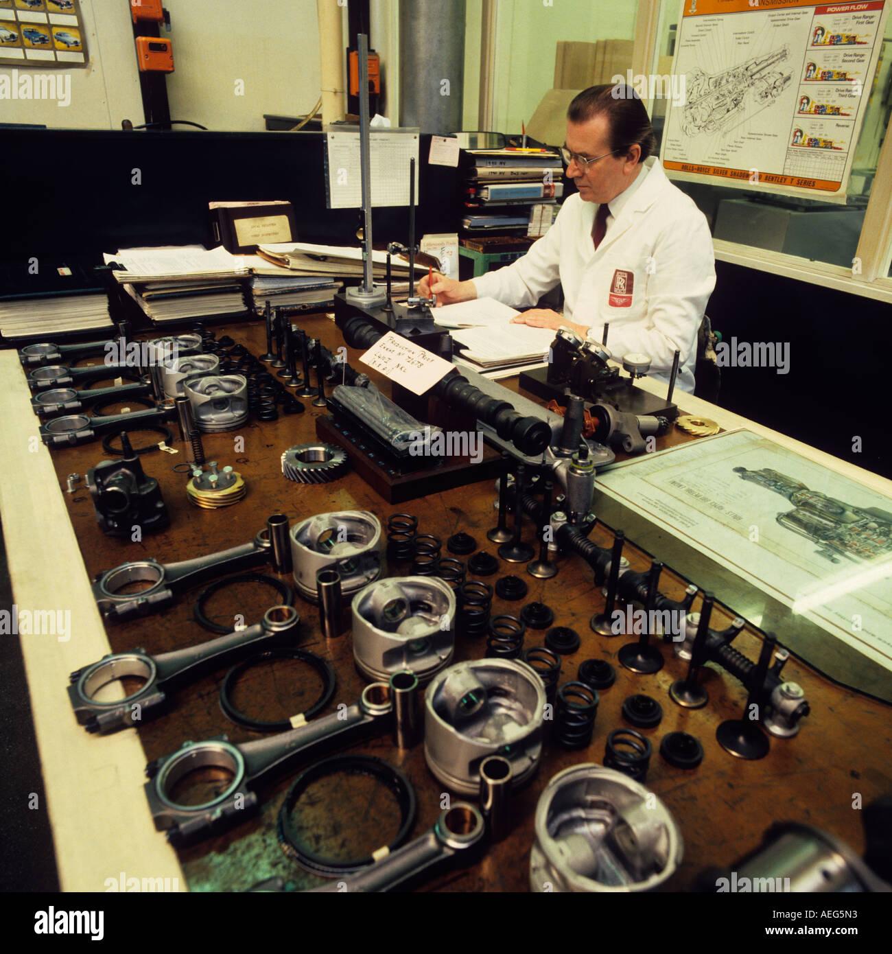 Cheshire Crewe Car Making Rolls Royce Engineer Inspecting