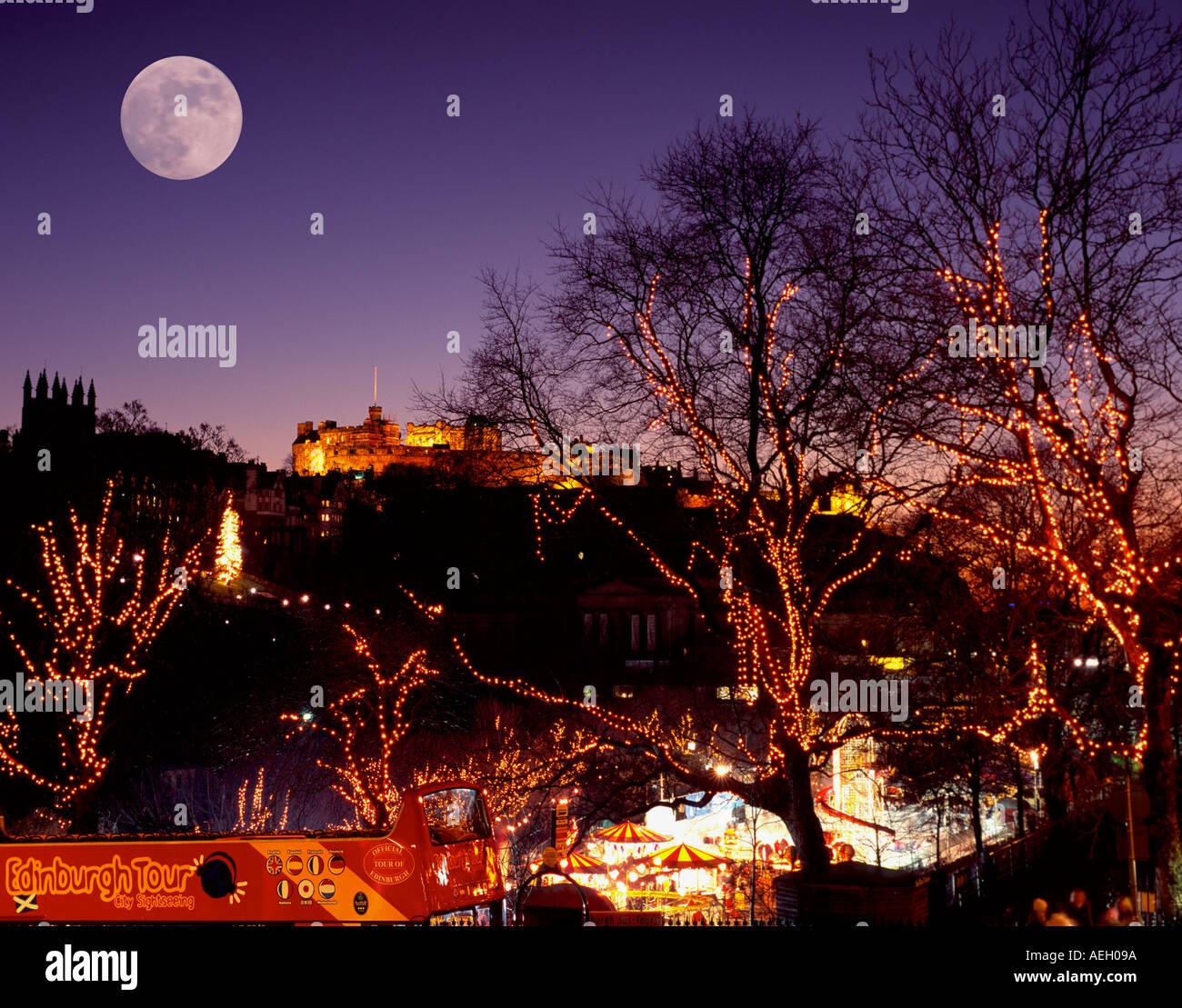 Light Shop In Edinburgh: UK Scotland City Of Edinburgh Christmas Lights At Princes