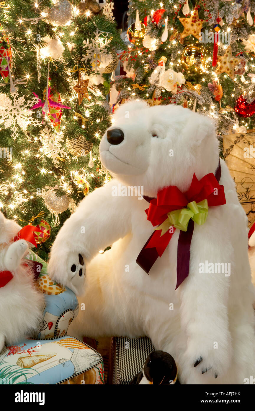 Christmas Tree Decorated With Christmas Bear Providence Festival Of Trees Portland  Oregon