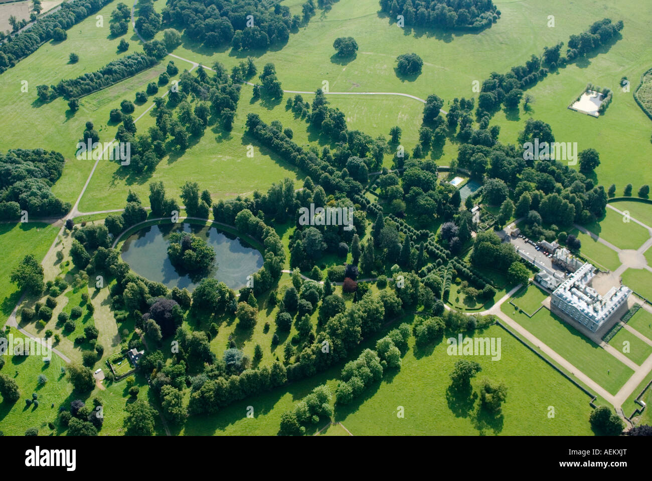 Aerial view of althorp house and the oval lake great for See images of my house