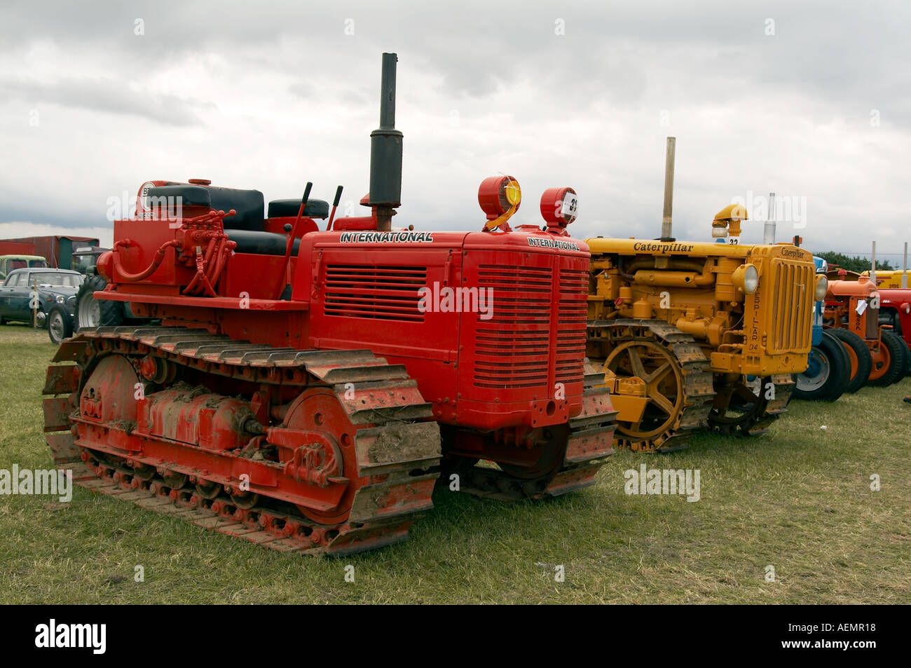Old Tractor With Tracks : Old tractor with caterpilar tracks tank farming