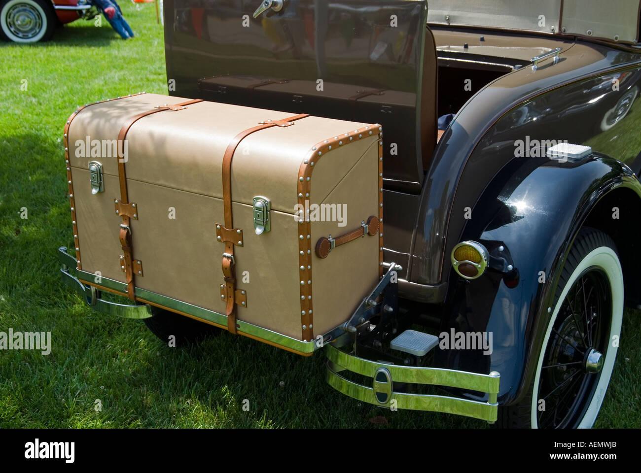 Antique car trunk stock image