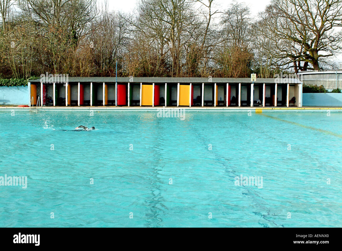 Tooting Bec Lido In South London Is The Largest Open Air Pool In Stock Photo Royalty Free Image