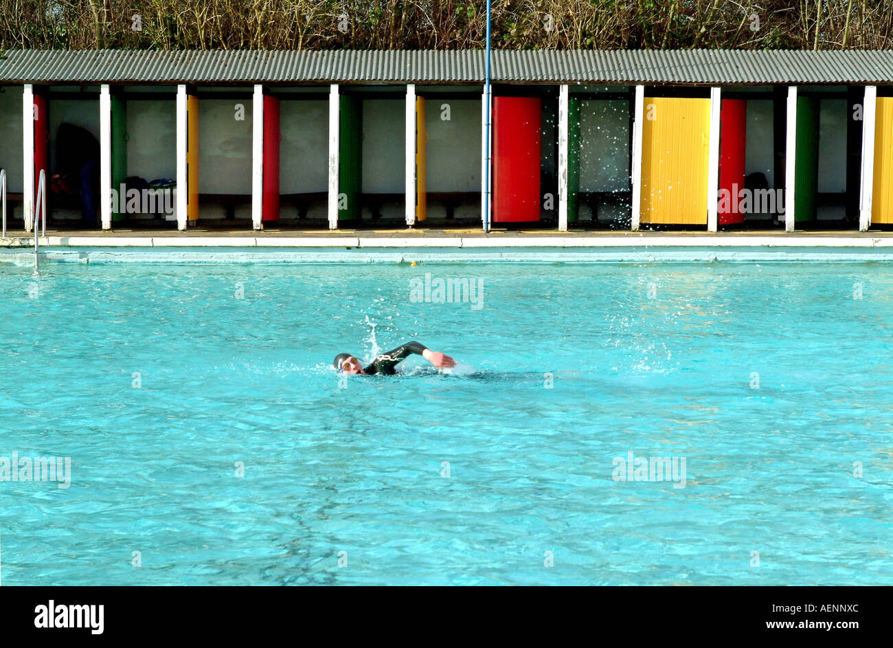 Tooting Bec Lido London Is The Largest Open Air Swimming Pool In Stock Photo Royalty Free