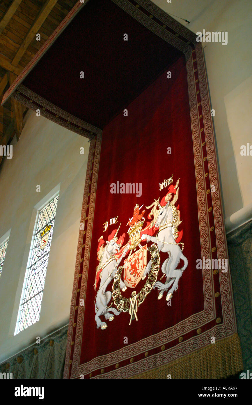 Stirling Castle Scotland throne canopy in great hall & Stirling Castle Scotland throne canopy in great hall Stock Photo ...