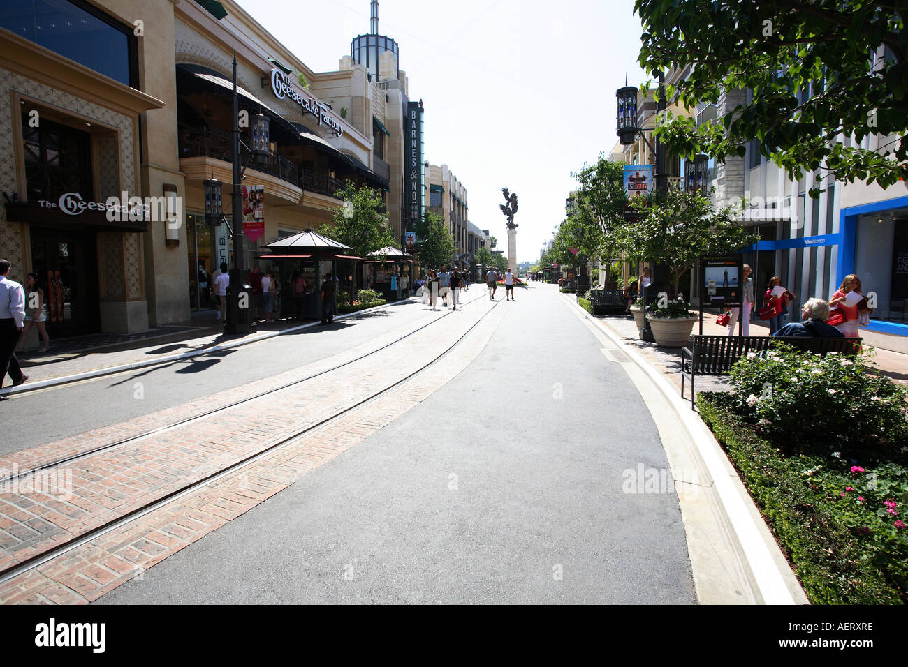 The Grove shopping area near the Farmers market downtown Los