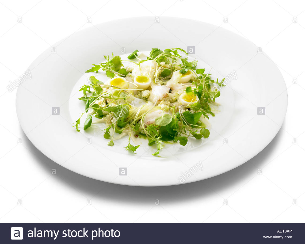 Salt Cod Brandade Mousse With Poached Cod Cauliflower Florets Quail ...