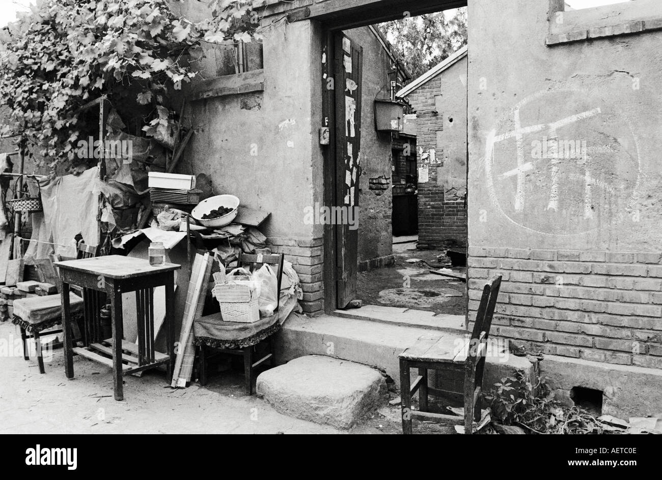 Furniture Waiting For Removal Outside A Condemned Hutong Home In Beijing  2003