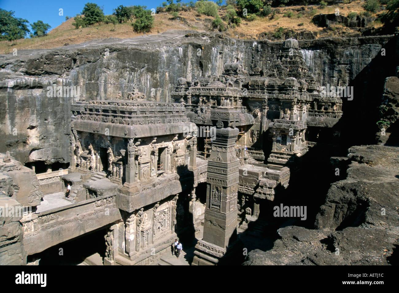 Kailasa hindu temple years old carved in situ