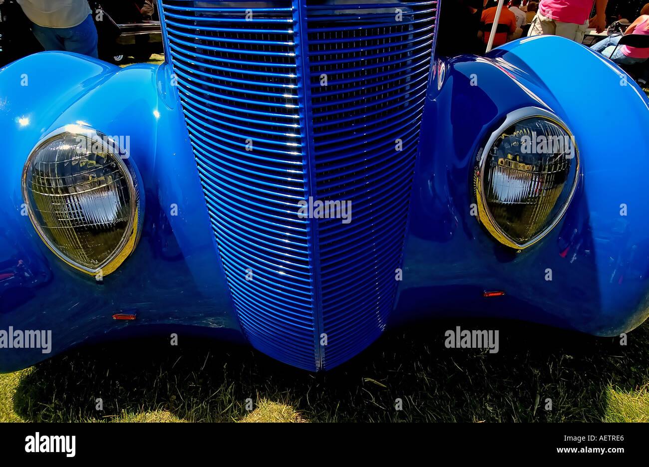Blue Classic American car at a Car Auction Teton Village near ...