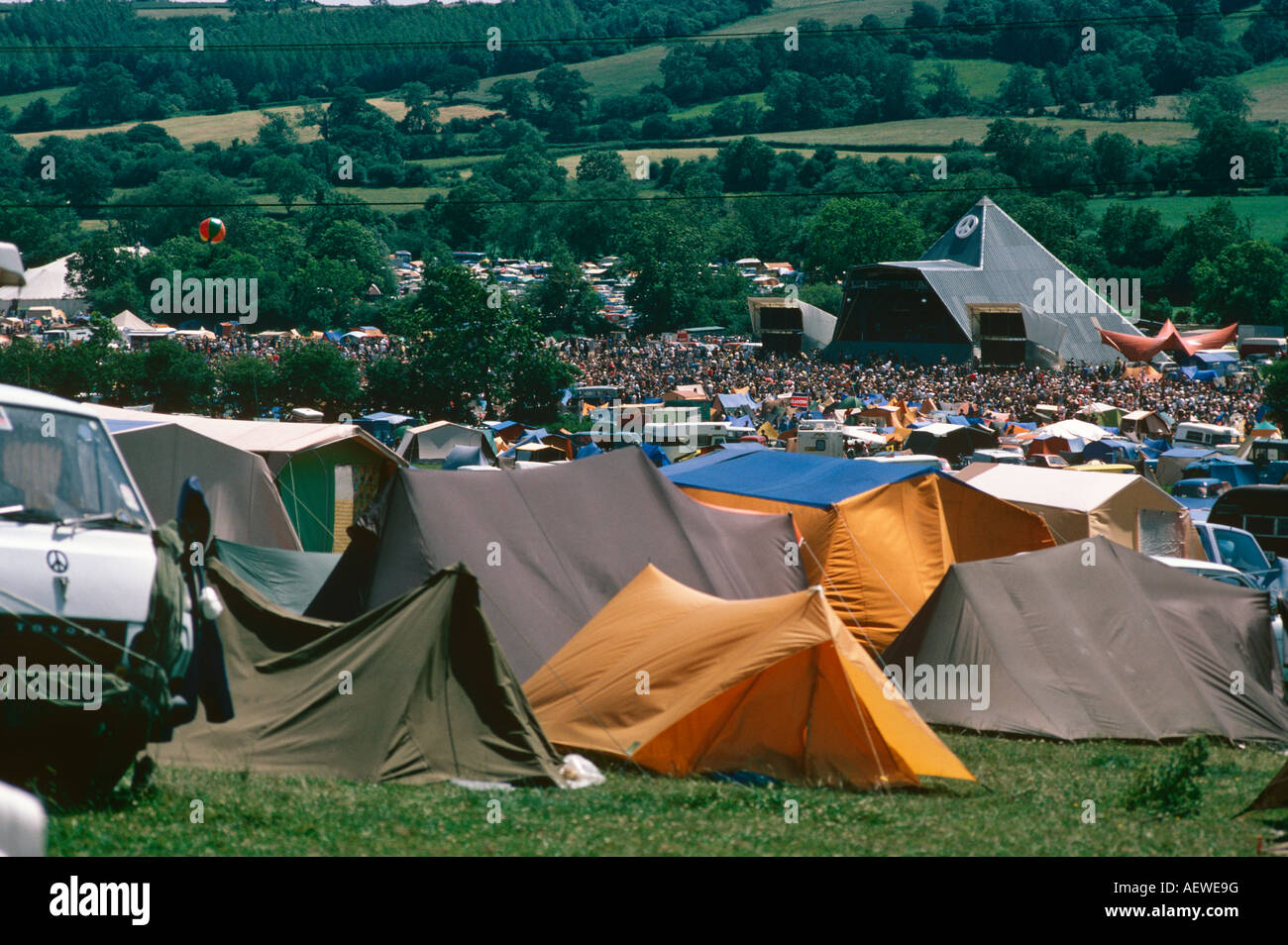 Tents In C&ing Field Glastonbury Festival Somerset UK Europe & Tents In Camping Field Glastonbury Festival Somerset UK Europe ...