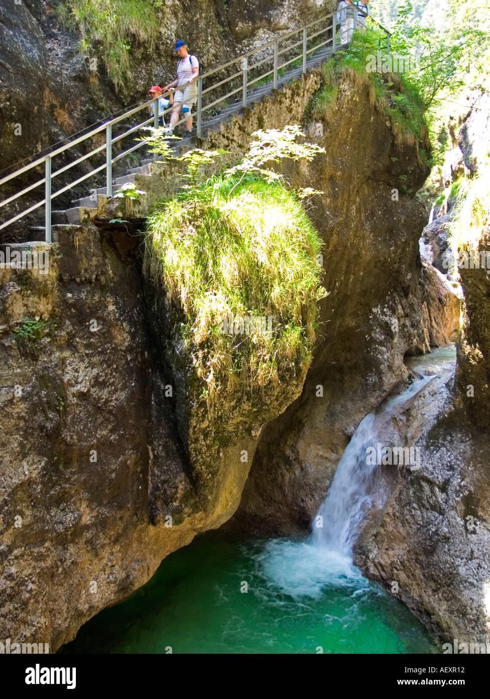 Almbachklamm Almbach Berchtesgaden gorge Germany Stock ...