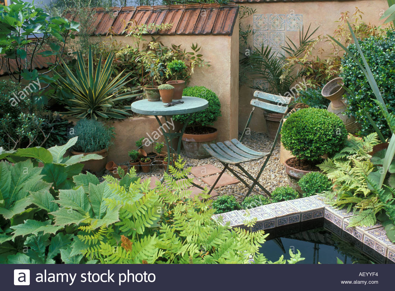 A small mediterranean style courtyard garden rhs chelsea for Garden design ideas rhs