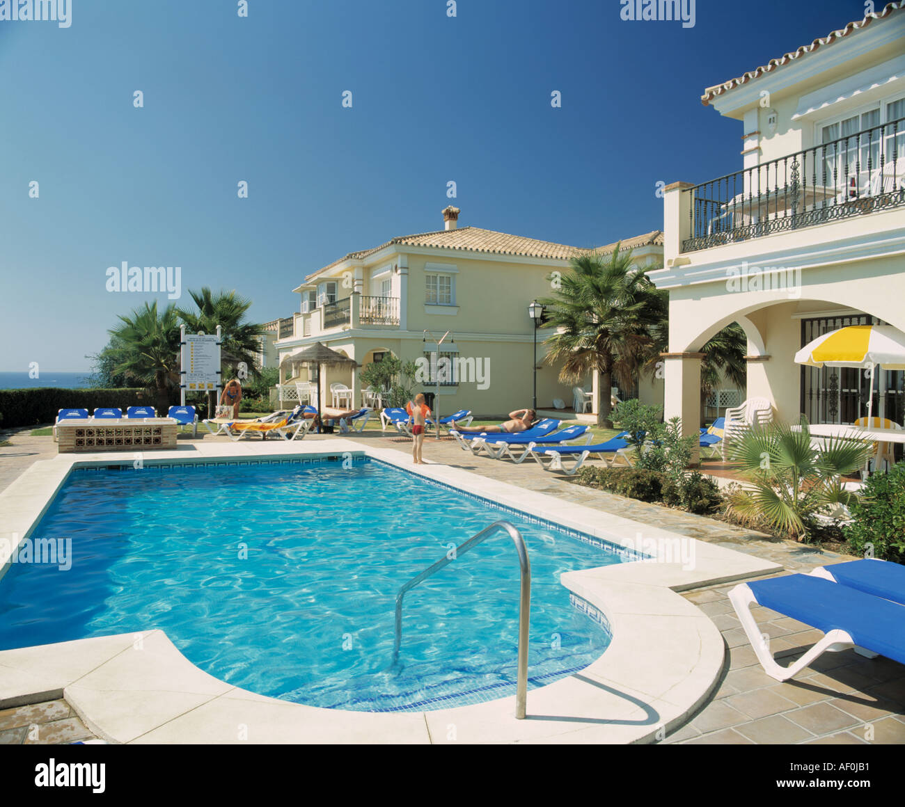Large Turquoise Swimming Pool In Grounds Of Hotel In Southern Spain Stock Photo Royalty Free