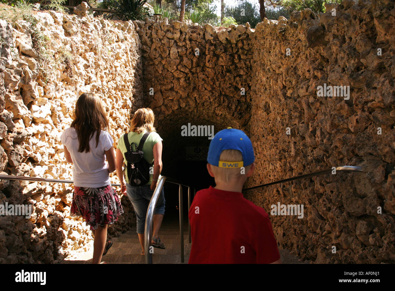 The entrance to Cuevas Del Drach or Coves del Drac, the Caves of the Stock Ph...