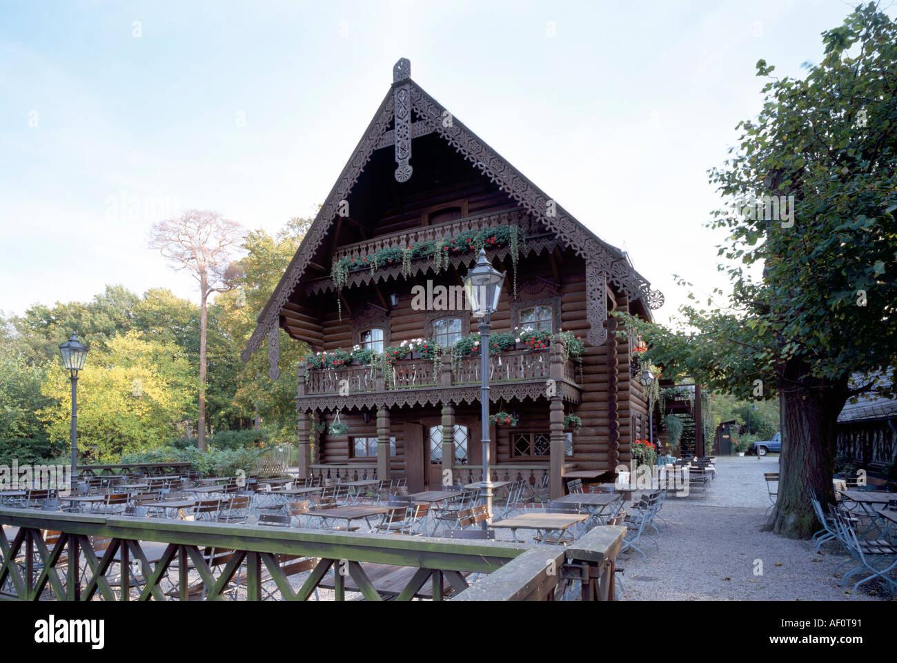 Berlin blockhaus nikolskoje wannsee terrassenseite stock image
