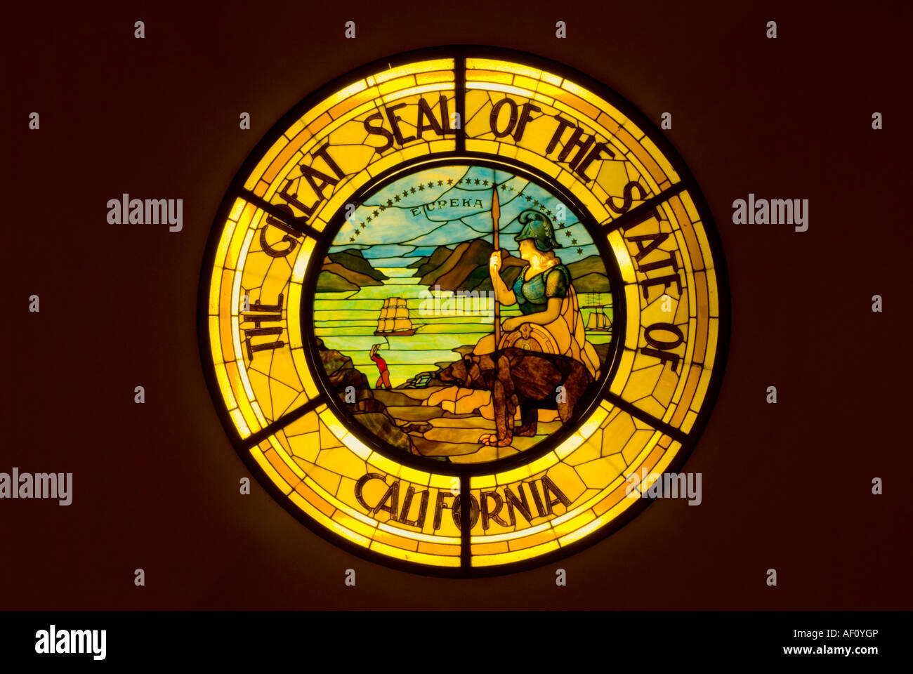 Stained glass seal of california inside the california state stained glass seal of california inside the california state capitol building sacramento california buycottarizona