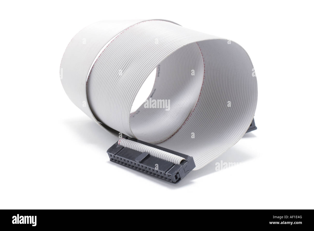 Computer Ribbon Cable : Computer ribbon cable stock photo royalty free image