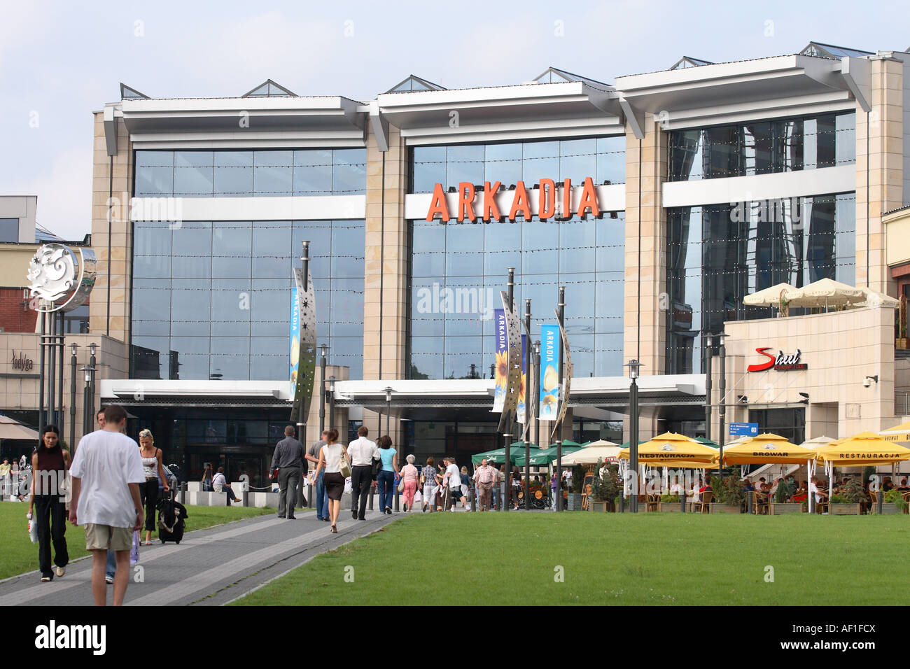 Warsaw Poland the Arkadia shopping mall centre is a new ...