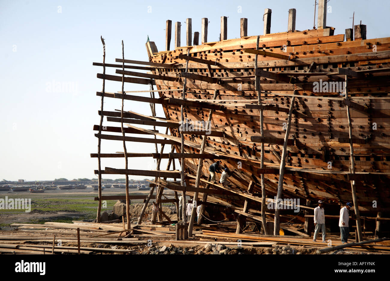 Wooden Shipbuilding Yard Mandvi Kutch Gujarat India