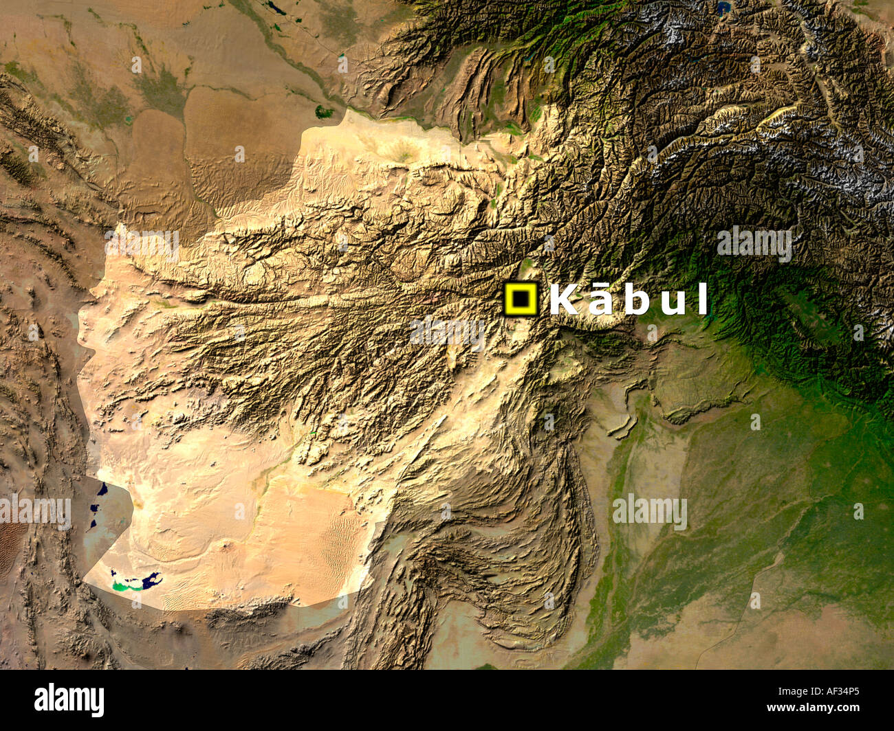 Satellite image of afghanistan with kabul highlighted stock photo satellite image of afghanistan with kabul highlighted gumiabroncs Image collections