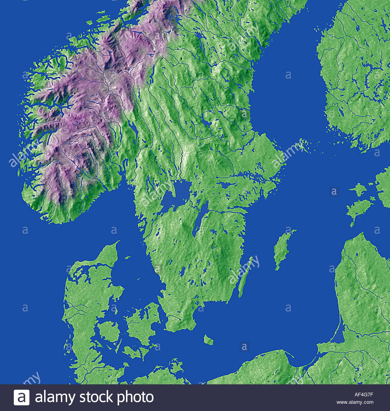 Map Maps Globe Globes Europe Skandinavia Denmark Sweden Norway - Norway map on globe
