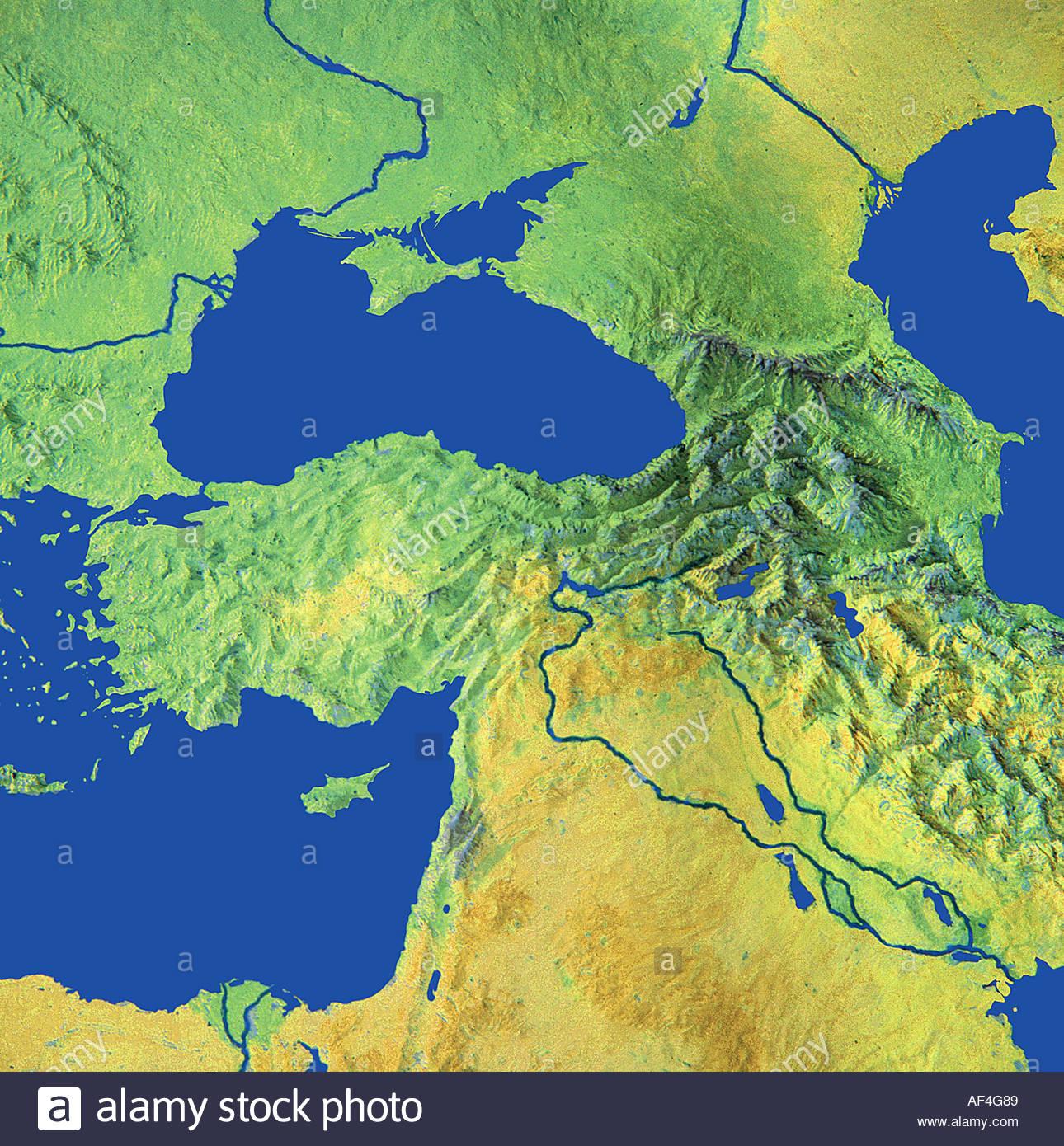 map maps globe globes Middle East Turkey Iraq Black See Georgia