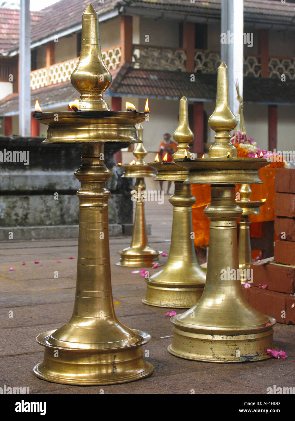 Kerala Temple Lamps Stock Photos  for Temple Stone Lamp  67qdu