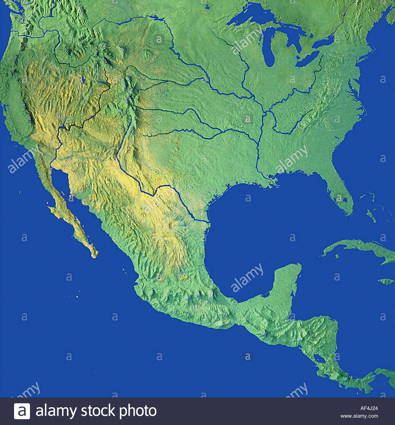 Map Maps Globe Globes North America USA Canada Mexico Stock Photo - Mexico usa map