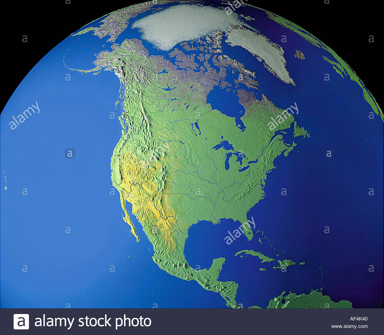 Map Maps Globe Globes North America USA Canada Mexico Arctis Stock - Usa canada mexico map