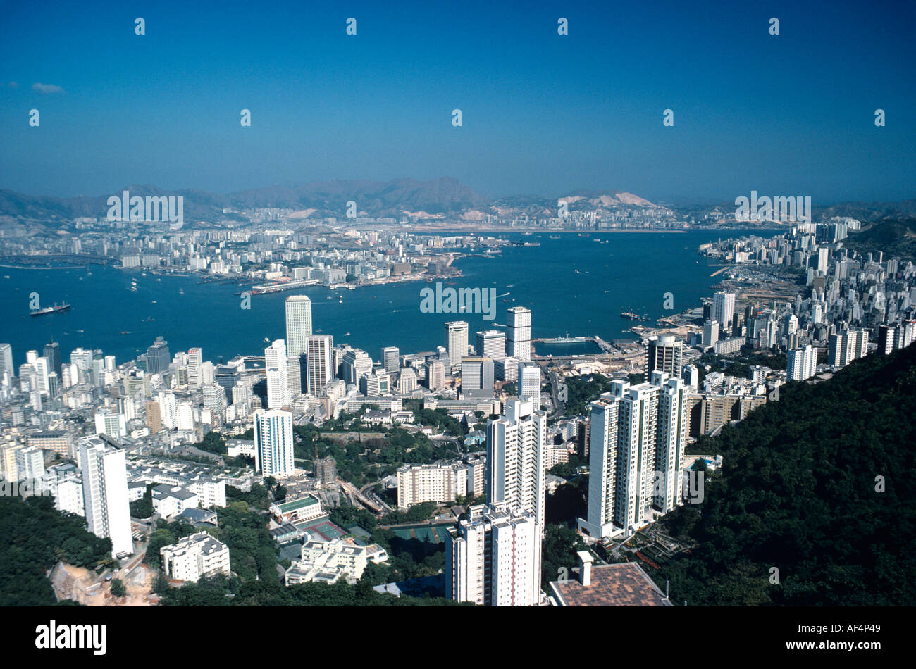 big view photography. View From Victoria Peak By Day In The Late 1970s With Fewer Big High Rise Buildings Over Kowloon Harbour And Hong Kong Photography O
