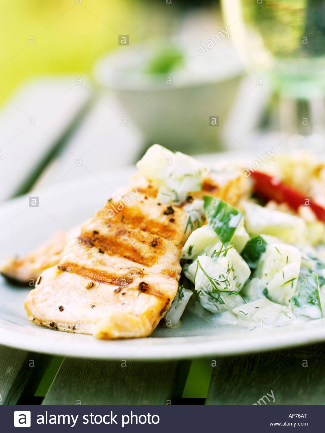 Grilled Tuna With Cucumber Salad Recipes — Dishmaps
