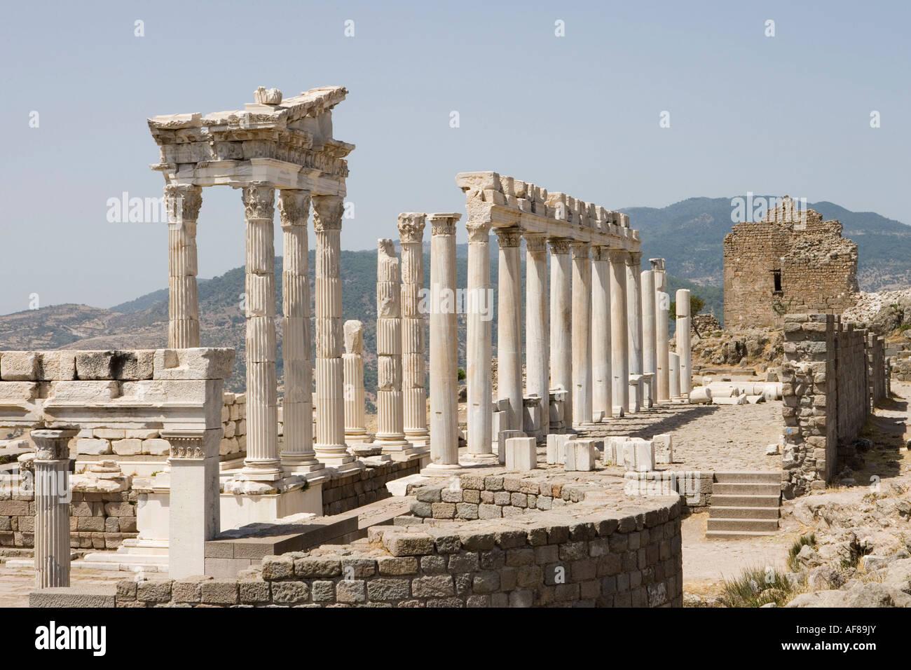Temple of Trajan Columns, Acropolis, Ancient Pergamum ...