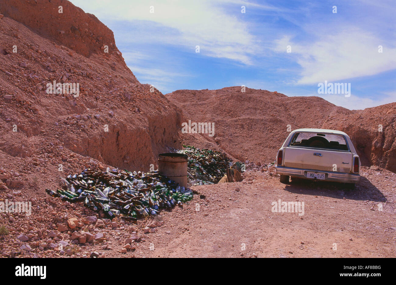 Glass for recycling and junk car, Coober Pedy, the opal capital of ...