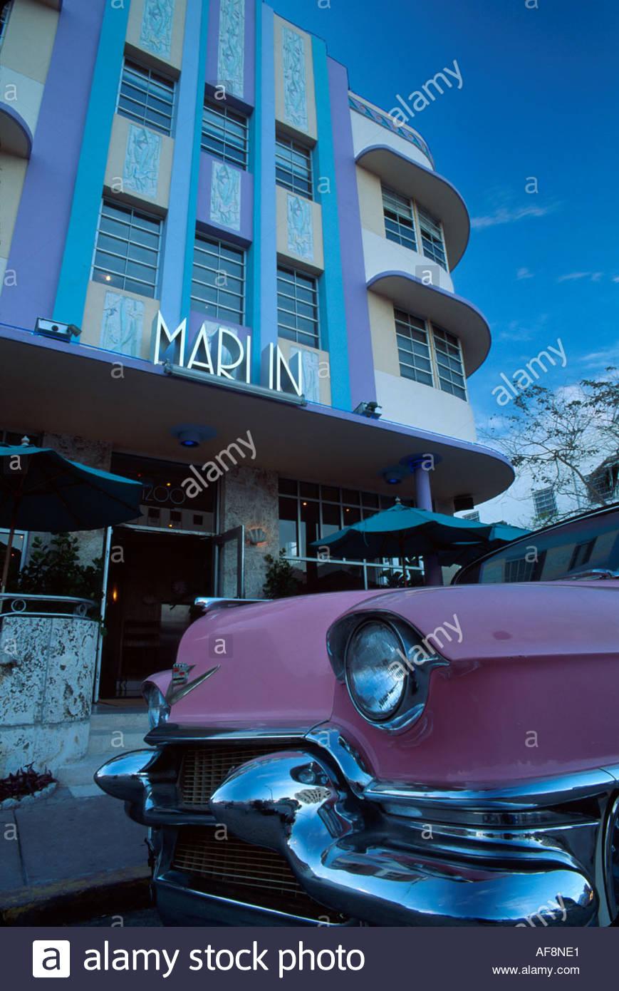 miami beach florida collins avenue marlin hotel metallic motif