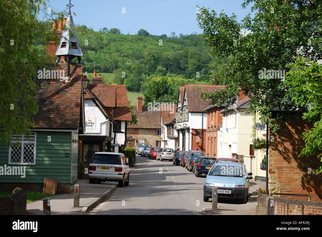 Surrey United Kingdom  city photos gallery : Middle Street, Shere, Surrey, England, United Kingdom Stock Photo ...