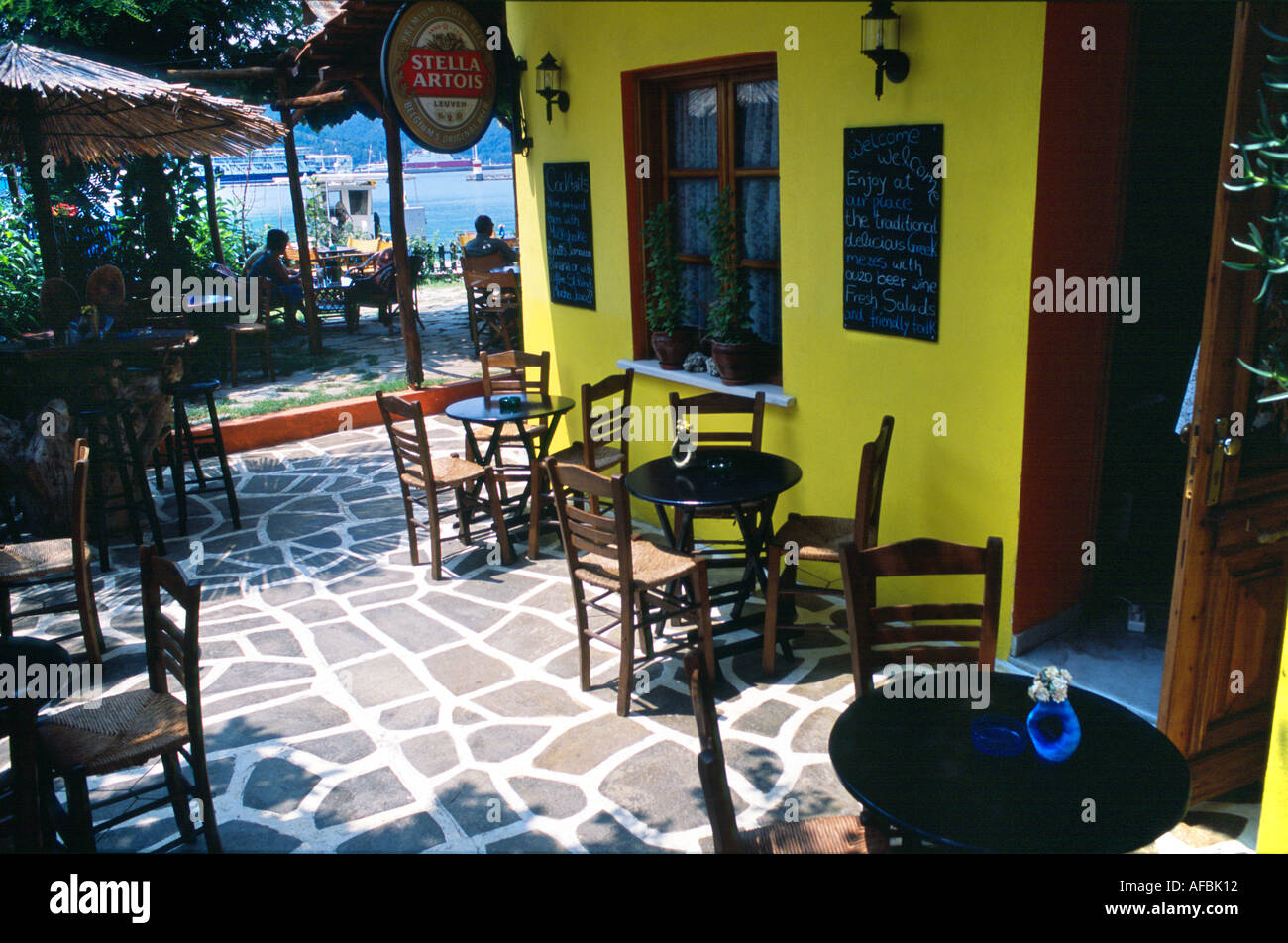 Beach bar taverna limenas thassos town greek north aegean - Mobile bar taverna ...