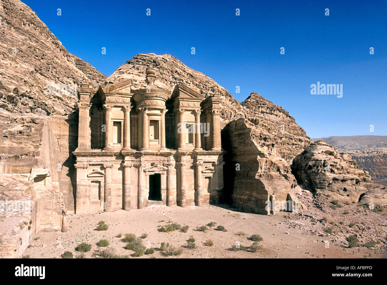 The monastery in the ancient stone city of petra in jordan stock the monastery in the ancient stone city of petra in jordan voltagebd Image collections